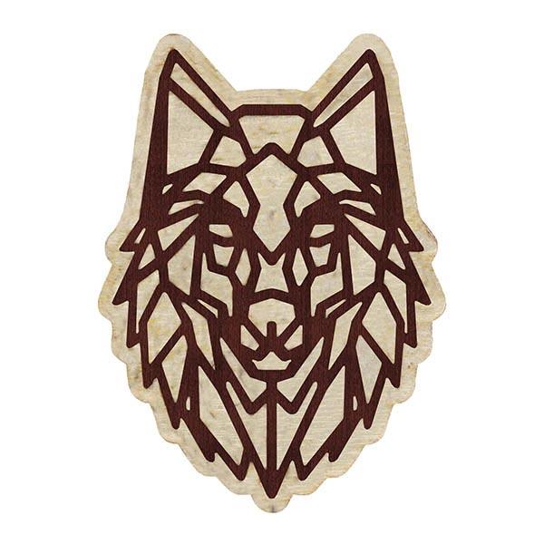 pin przypinka wilk