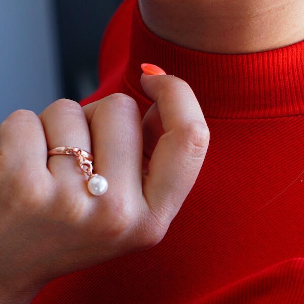 pierścionek różowe złoto