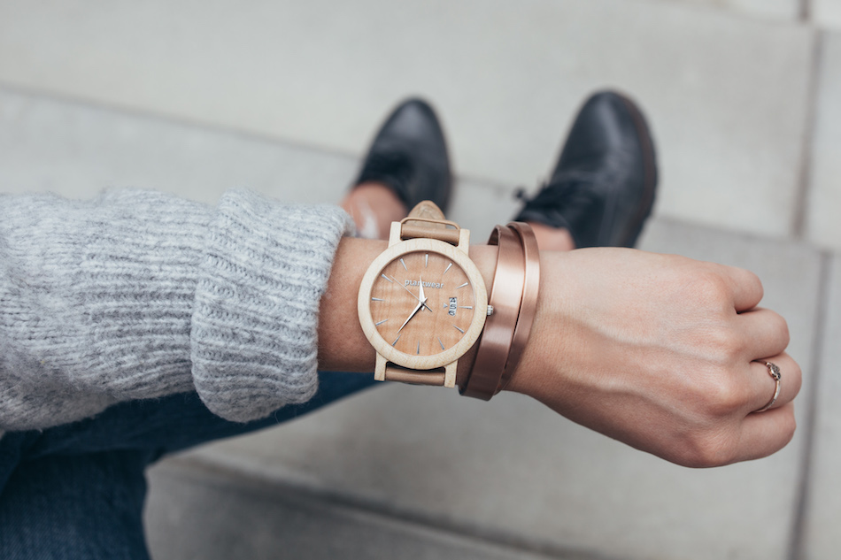 polski zegarek plantwear jawor