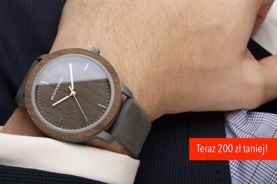 prezent nadzień ojca, drewniany zegarek fusion fog