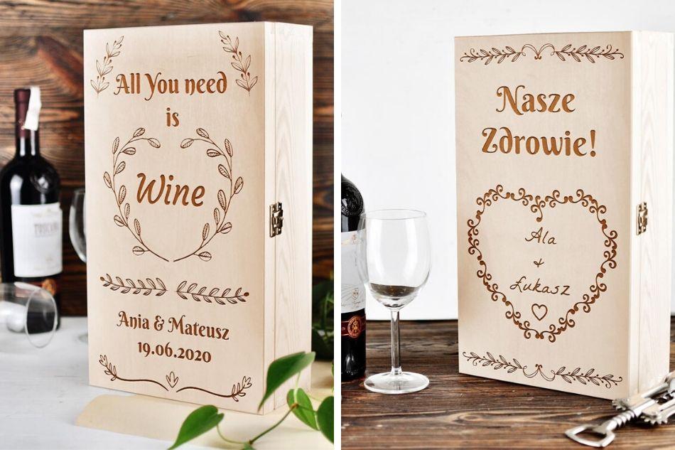 pudełko nawino prezent ślubny