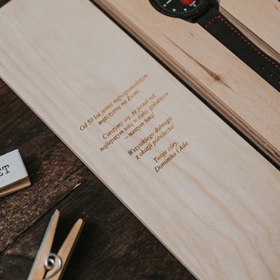 drewniany zegarek pure