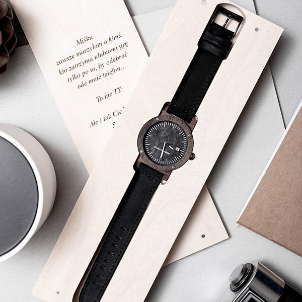 drewniany zegarek seria raw