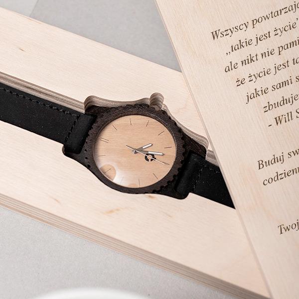 drewniany zegarek urban