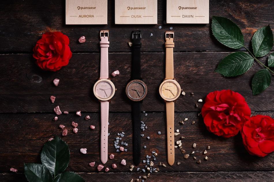 zegarek drewniany damski