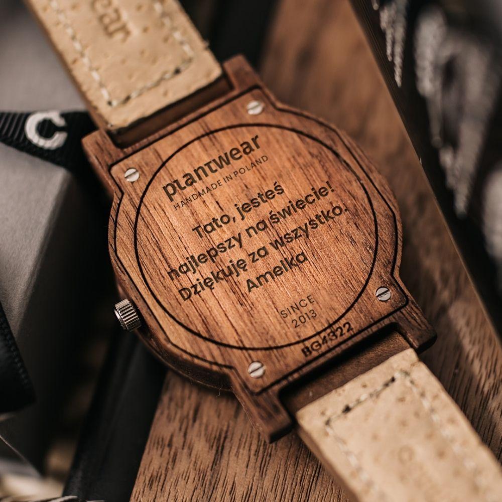 drewniany zegarek nadzien ojca
